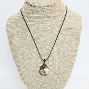 Chico's Faceted Drop Ball Long Necklace